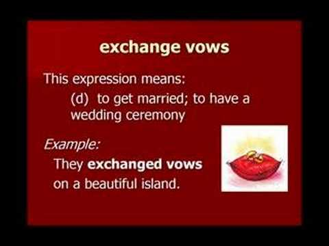 İngilizce Kelime Öğren Ders 8: Evlilik