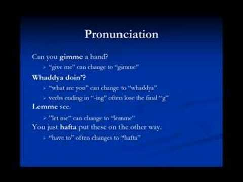 Konuşma İngilizcesi Ders 4